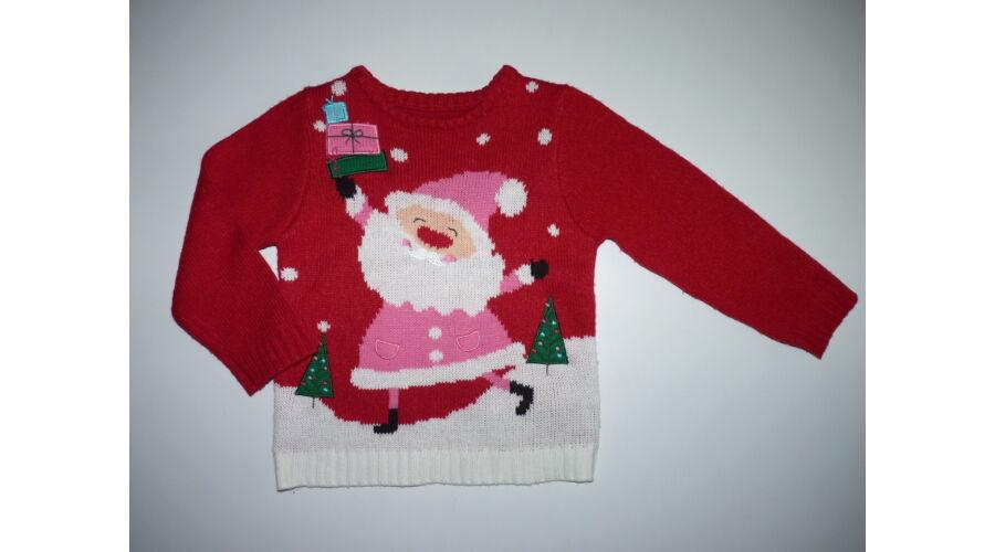 98-as karácsonyi Télanyó mintás pulóver - Kardigánok e373237c72