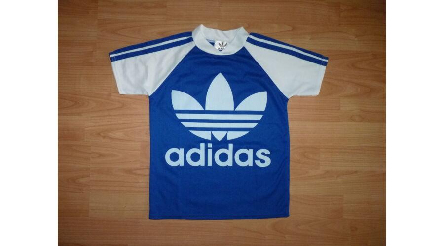 8acc835df5 116-os Adidas kék-fehér mez, póló - Pólók, felsők, ingek - Lurkoshop ...
