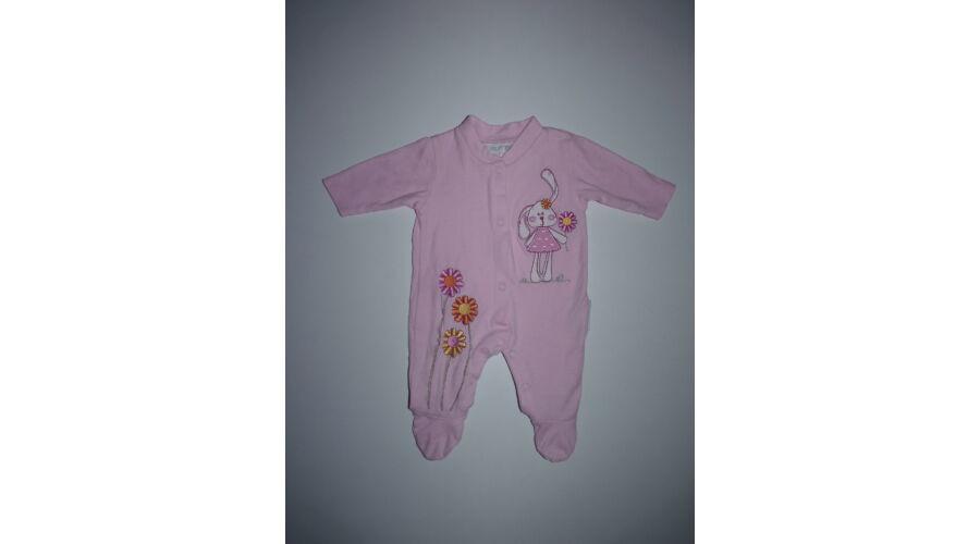 50-es rózsaszín tündéri nyuszis pamut rugdalózó - Bodyk e5e1af817f