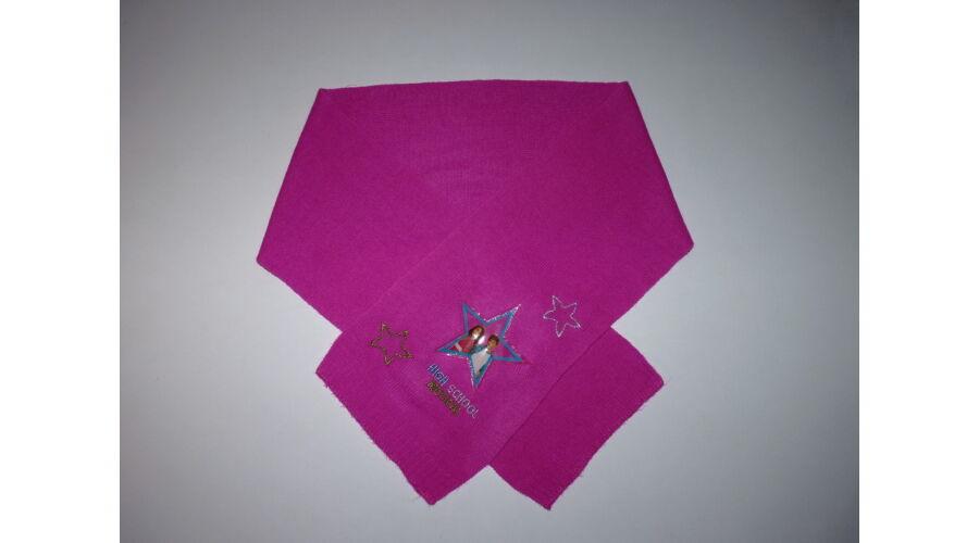 57c9e0148b03 Csajos kötött sál csillogó hímzéssel - 116 - Lurkoshop gyerekruha ...