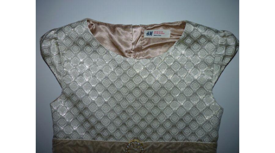 11856d7f2c 128-as gyönyörű, arany színű H&M alkalmi ruha - 128 - Lurkoshop ...