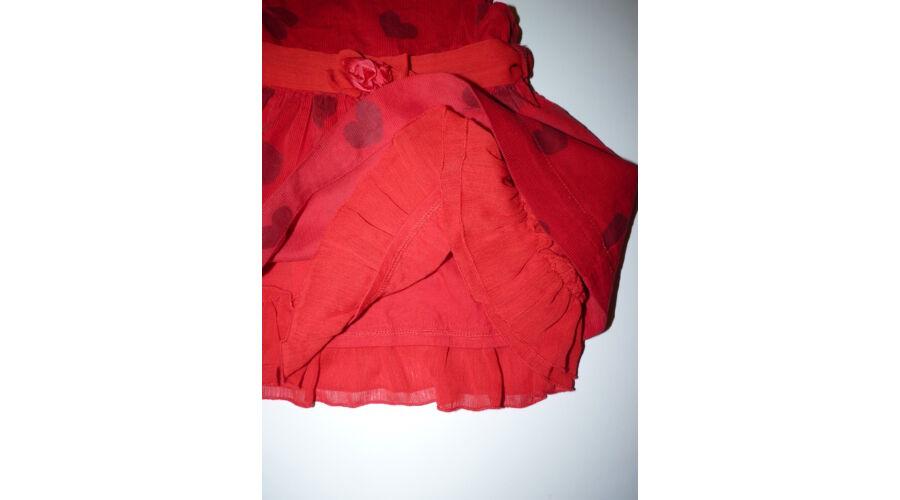 68 74-es tündéri piros alkalmi ruha szívecskékkel - Szoknyák fe154a71aa
