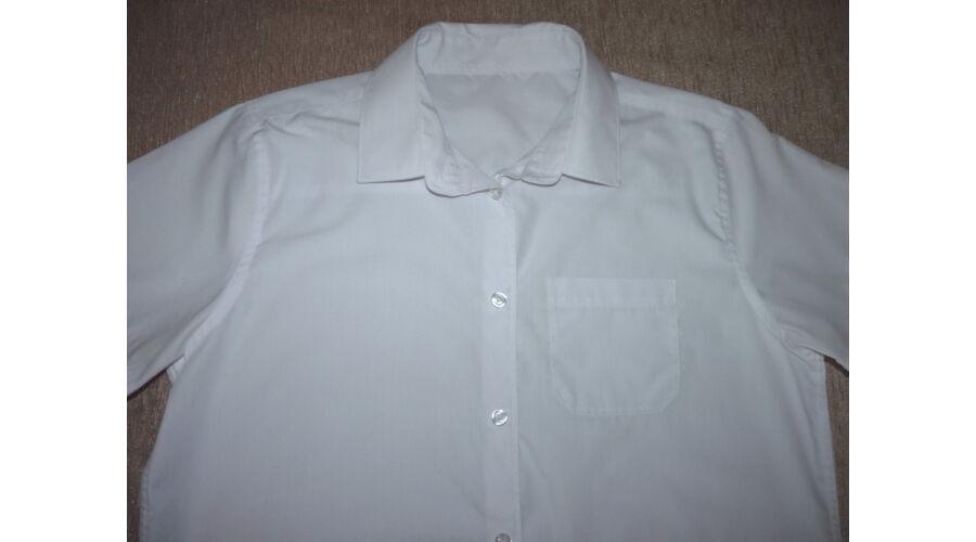 fb07c07fc9 164/170-es fehér rövid ujjú ing - Pólók, felsők, ingek - Lurkoshop ...