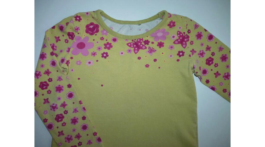 52b019da20 98-as virágos-lepkés csinos kislány felső - Pólók, felsők ...