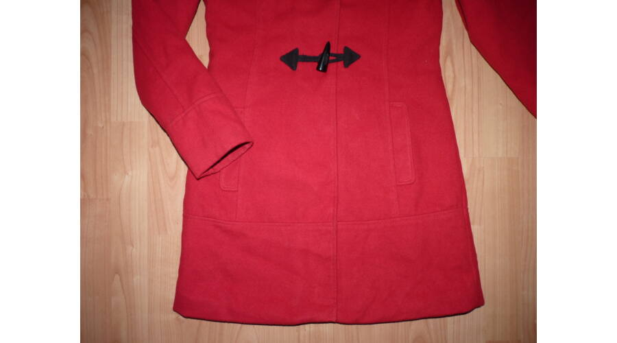158 164-es csinos kapucnis átmeneti szövetkabát - Kabátok ... e02850d232