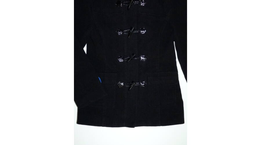 ec9ae5ff65 146-os YD fekete csinos kapucnis szövetkabát - Kabátok - Lurkoshop ...