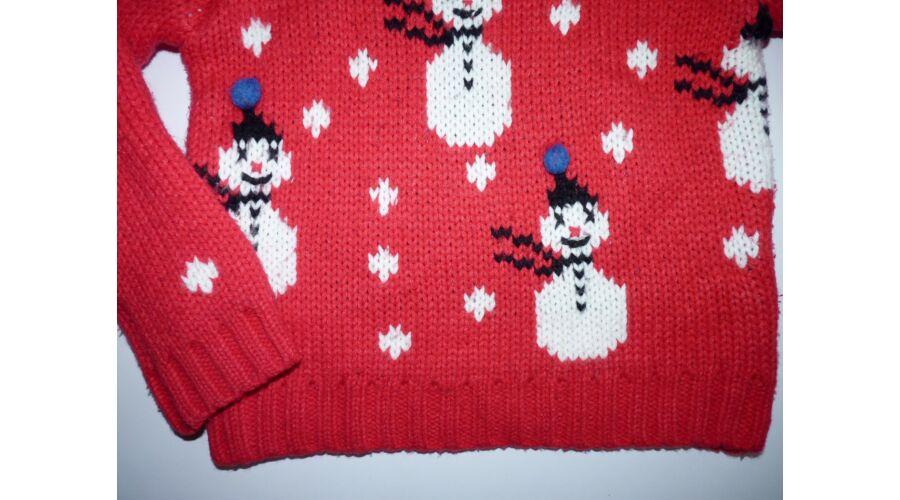 3610a6e3ac 116-os Next hóember mintás vastag kötött pulóver - Kardigánok ...