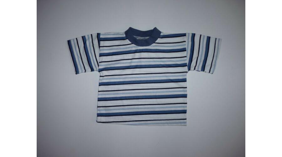 4a9bab9088 68/74-es kék-fehér csíkos pamut póló - Pólók, felsők, ingek ...