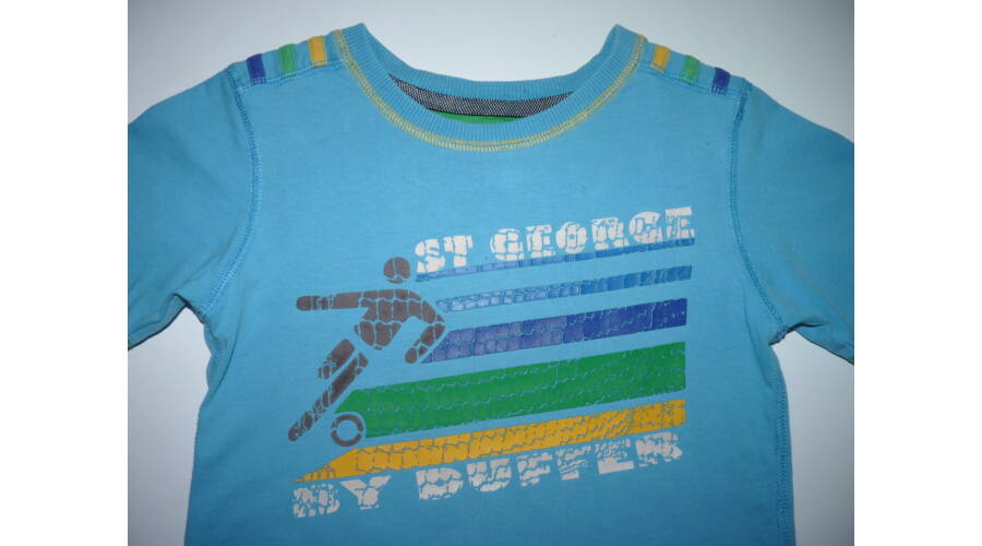68eae702f3 104/110-es türkizkék focis póló - játszós - Pólók, felsők, ingek ...