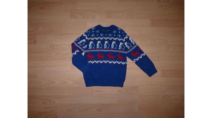 961003d0d3 116-os kék téli mintás kötött NEXT pulóver - 116 - Lurkoshop ...