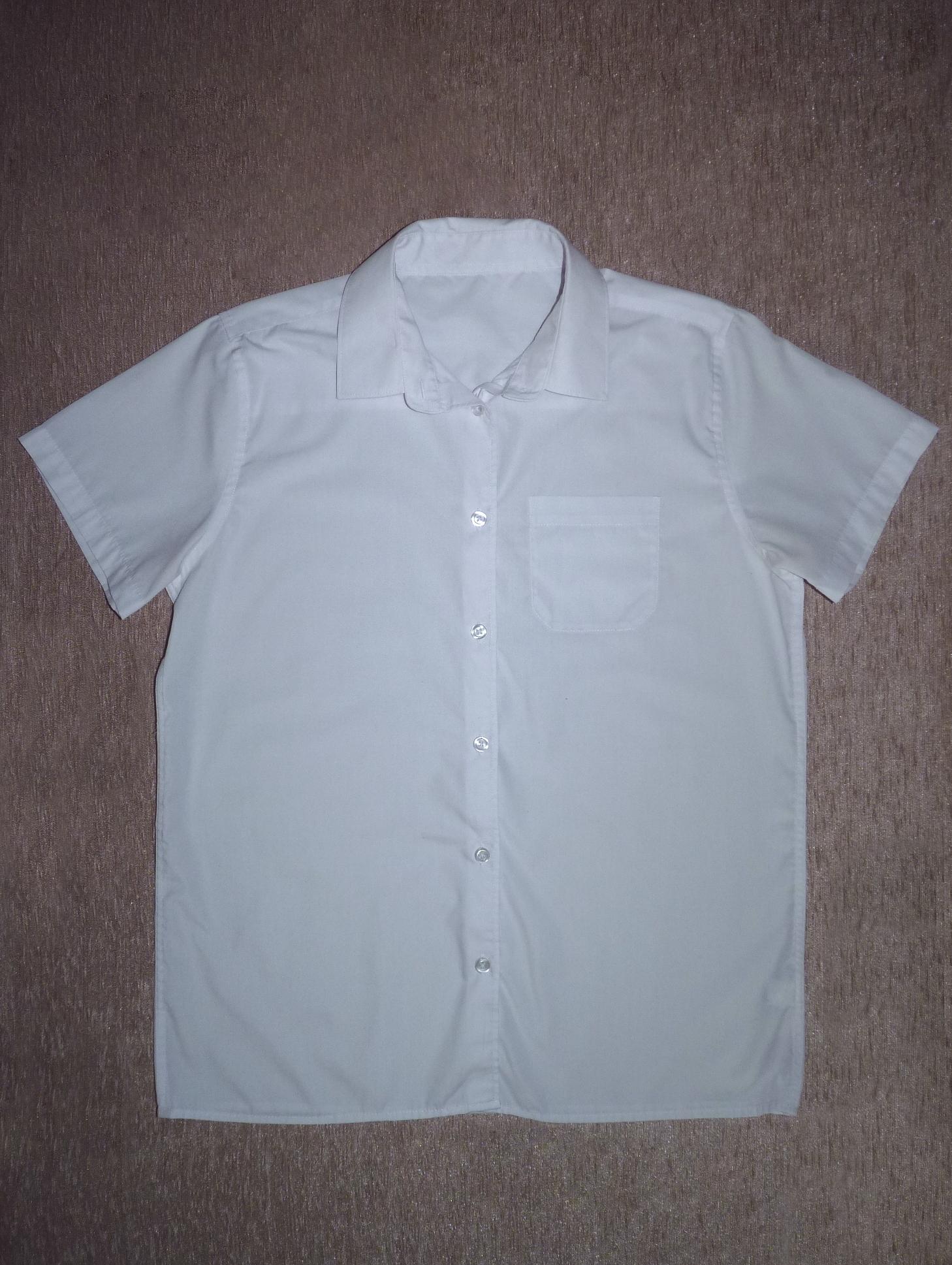 ee98eba5d1 164/170-es fehér rövid ujjú ing - Pólók, felsők, ingek - Lurkoshop  gyerekruha webshop